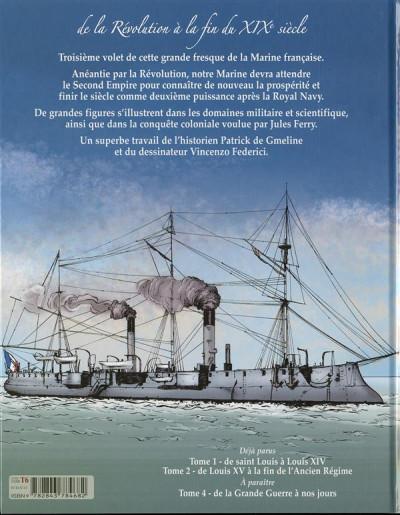 Dos La grande fresque de la marine tome 3 - de la révolution à la fin du XIXè siècle