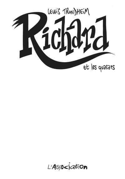 Page 1 Richard et les quasars