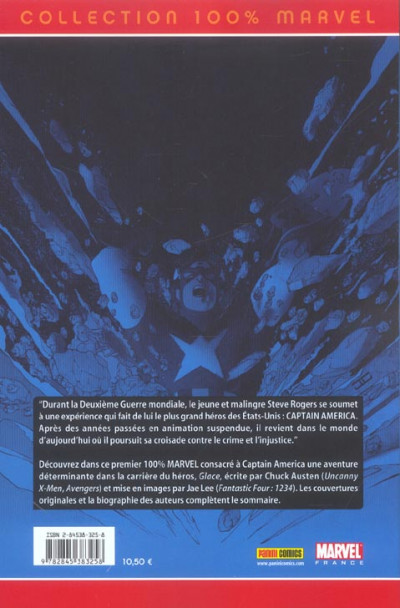 Dos Captain america (100% Marvel) tome 1 - Glace