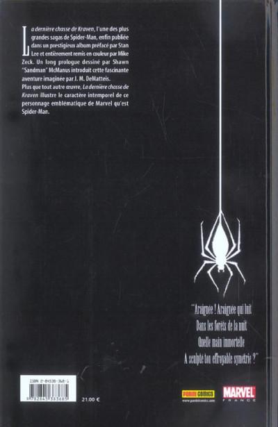 Dos spider-man - la dernière chasse de kraven