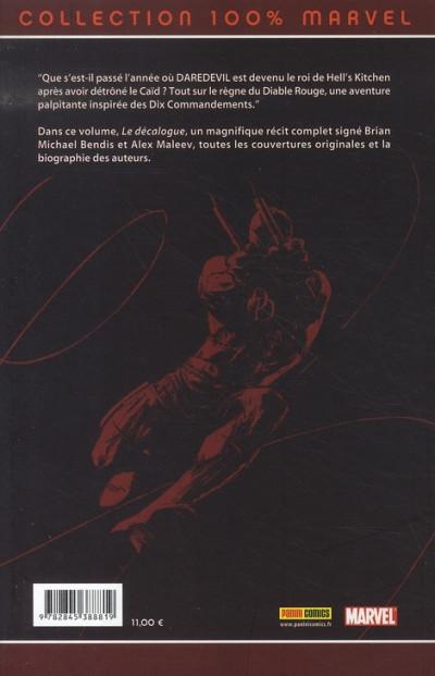 Dos Daredevil (100% marvel) tome 12 - le décalogue