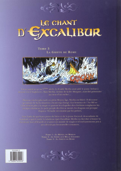 Dos le chant d'excalibur tome 3 - la griffe de rome (relié)