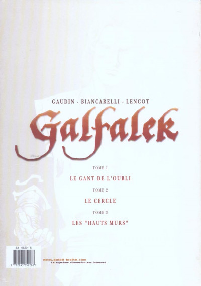 Dos galfalek - coffret tome 1 à tome 3