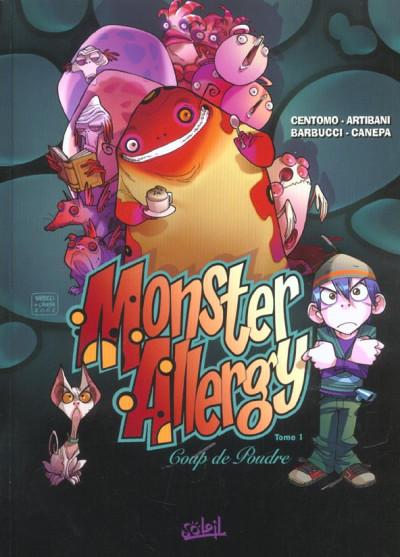 Couverture monster allergy tome 1 - coup de poudre
