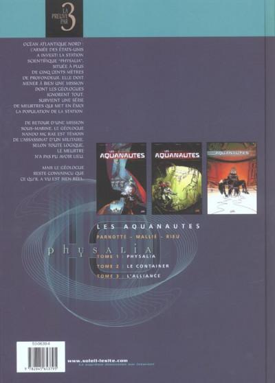 Dos les aquanautes - preuve par 3 - tome 1 à tome 3