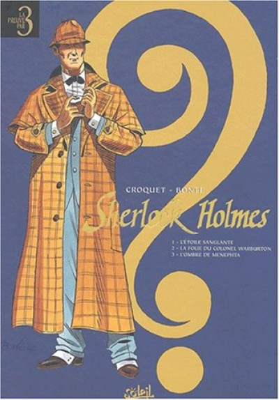 Couverture sherlock holmes - tome 1 à tome 3
