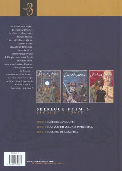 Dos sherlock holmes - tome 1 à tome 3
