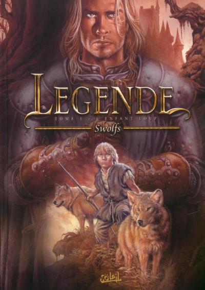 Couverture légende tome 1 - l'enfant loup