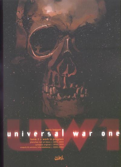 Couverture universal war one tome 5 - babel (noir et blanc)