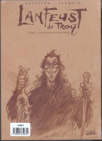 Dos lanfeust de troy tome 5 - frisson de l'haruspice (noir et blanc)