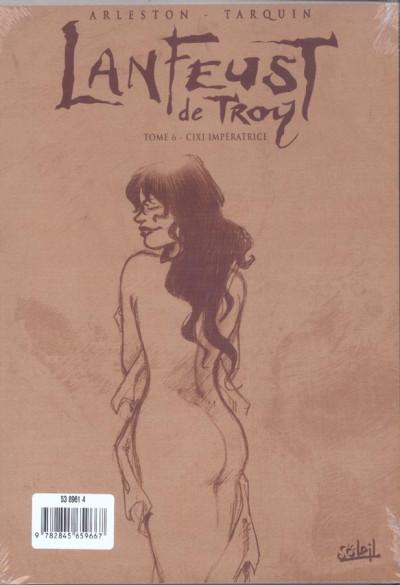 Dos lanfeust de troy tome 6 - cixi imperatrice (noir et blanc)