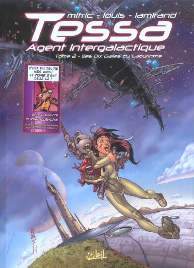 Couverture tessa, agent intergalactique tome 2 - les dix dalles du labyrinthe