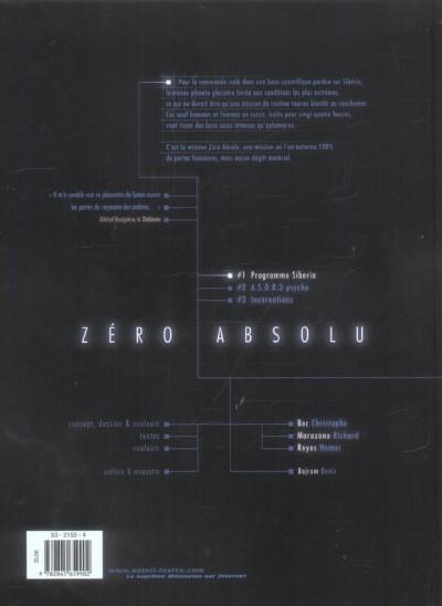 Dos zéro absolu tome 1 - programme sibéria