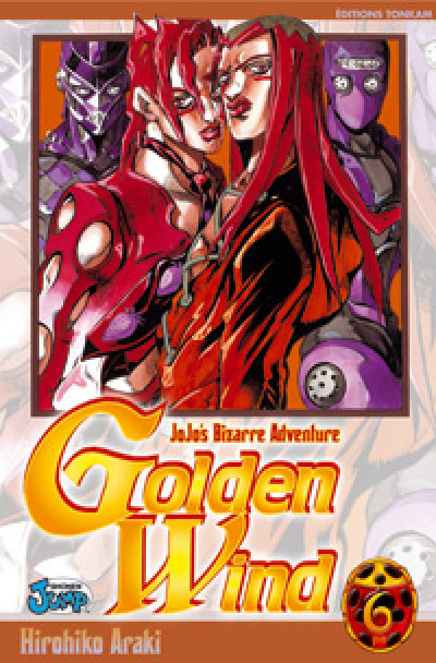 Couverture golden wind - jojo's bizarre adventure tome 6