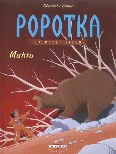 Couverture popotka le petit sioux tome 3 - mahto