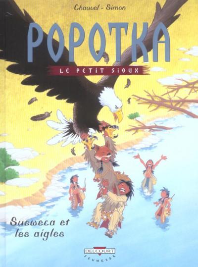 Couverture popotka le petit sioux tome 5 - susweca et les aigles