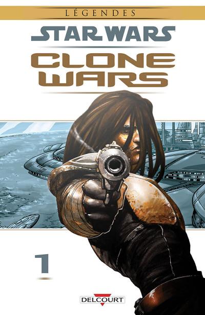 Couverture star wars - clone wars tome 1 - la défense de kamino