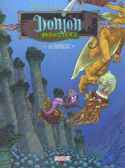 Couverture donjon monsters tome 9 - habitants des profondeurs