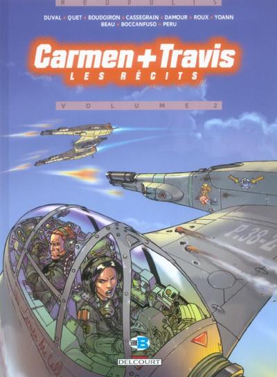 Couverture carmen + travis tome 2 - les récits
