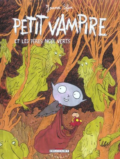 Couverture petit vampire tome 6 - petit vampire et les pères noël verts