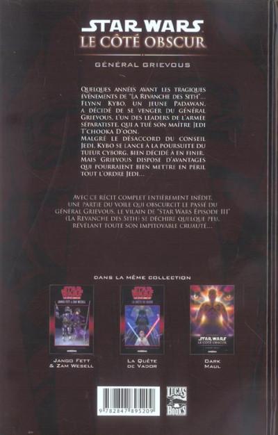 Dos star wars - le cote obscur tome 4 - general grievous