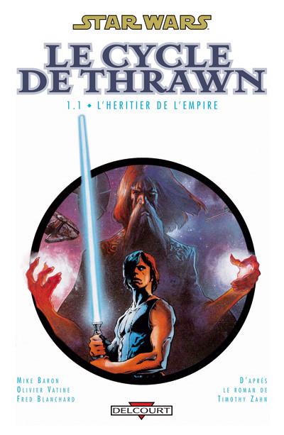 Couverture star wars - le cycle de thrawn tome 1.1 - l'héritier de l'empire