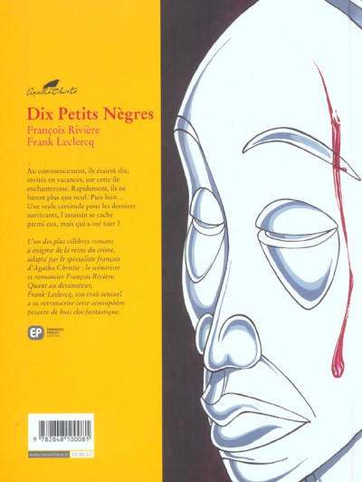 Dos Agatha Christie tome 3 - dix petits nègres