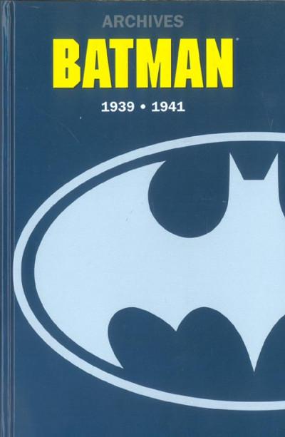 Couverture batman archives tome 1 - 1939-1941