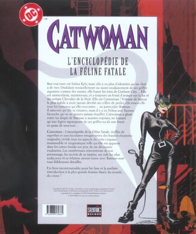 Dos Catwoman - l'encyclopédie de la féline fatale