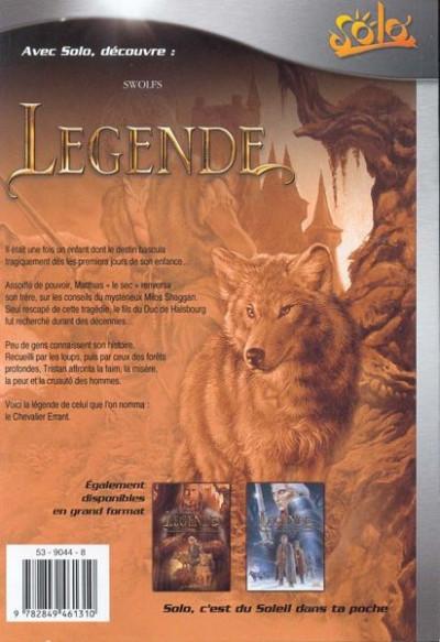 Dos légende tome 1 - l'enfant loup (poche)
