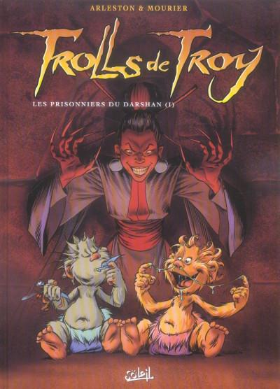 Couverture trolls de troy tome 9 - les prisonniers du darshan tome 1