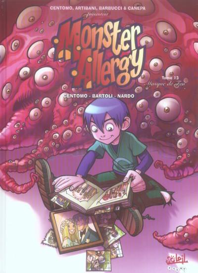 Couverture monster allergy tome 13 - le masque de feu