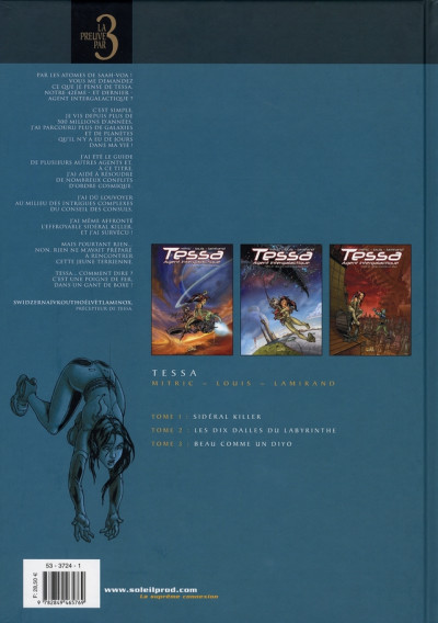 Dos tessa, agent intergalactique - tome 1 à tome 3