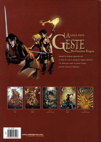 Dos la geste des chevaliers dragons tome 5 - les jardins du palais