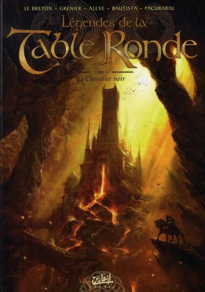 Couverture légendes de la table ronde tome 3 - le chevalier noir