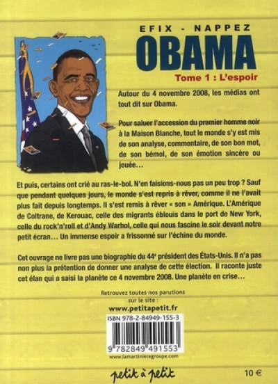 Dos obama tome 1 - l'espoir