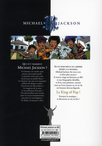 Dos michael jackson en bandes dessinées