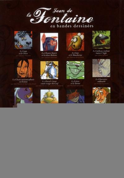 Dos Jean de la fontaine ; 18 fables en bandes dessinées