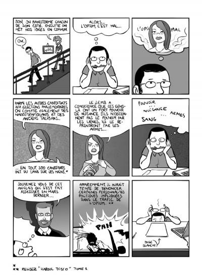 Page 7 kaboul disco tome 2 - comment je ne suis pas devenu opiomane en afghanistan