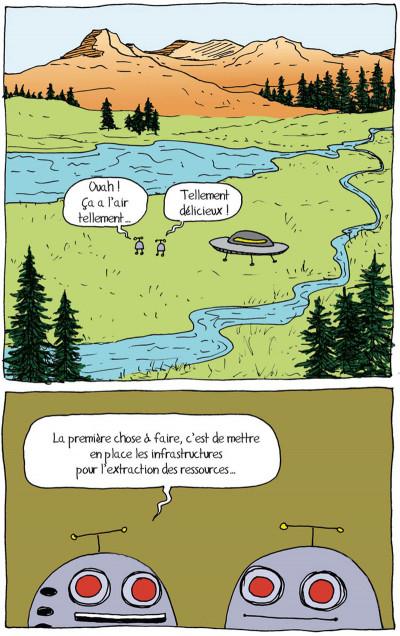 Page 5 tandis que la planète brûle