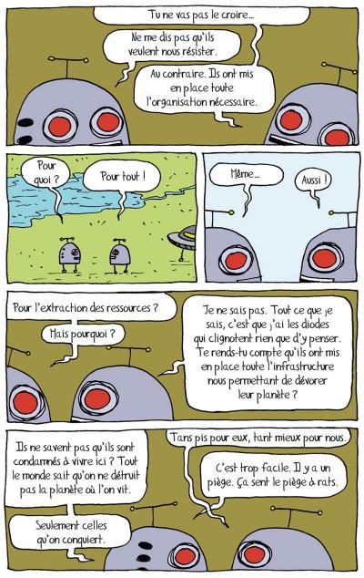 Page 6 tandis que la planète brûle
