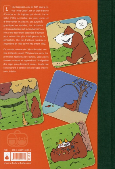 Dos L'ours Barnabé intégrale tome 1