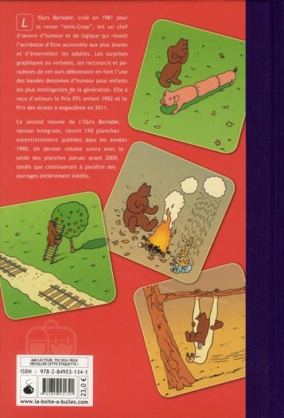 Dos l'ours Barnabé ; INTEGRALE VOL.2