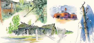 Page 6 les fleurs de Tchernobyl ; carnet de voyage dans le désert de Russie