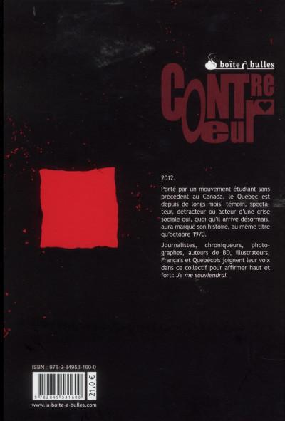 Dos je me souviendrai ; 2012 ; mouvement social au Québec