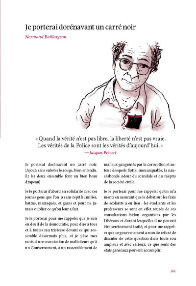 Page 5 je me souviendrai ; 2012 ; mouvement social au Québec