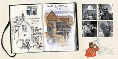 Page 6 kompilasi komikus ; (carnet de résidences) en Indonésie