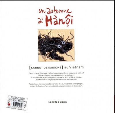 Dos Un automne à Hanoï - Carnets de saisons au Vietnam
