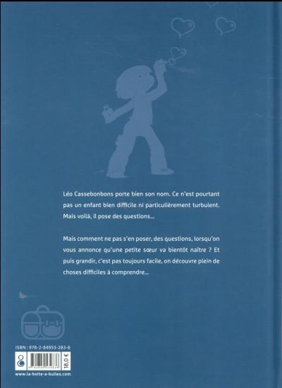 Dos trois aventures de Léo Cassebonbons