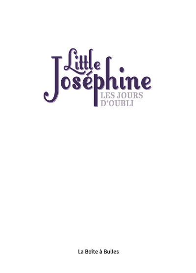 Page 1 Little Joséphine ou les jours d'oubli